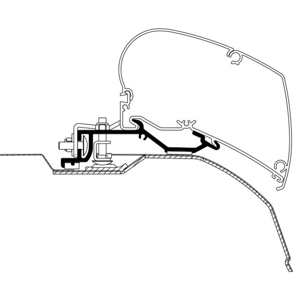 Thuel Adapter für Fiat Ducato H2 ab 2006