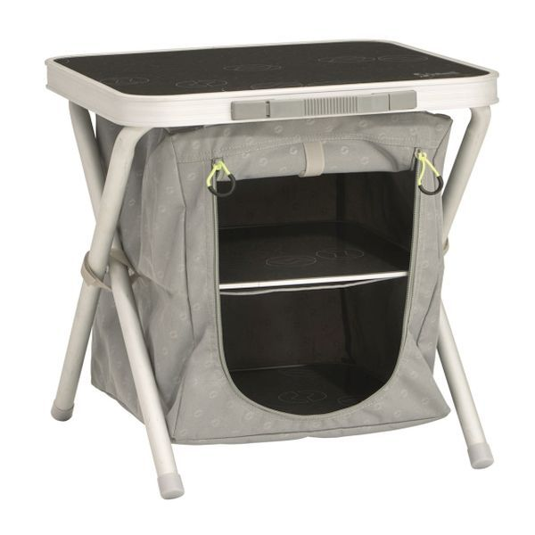 bett beistelltisch beistelltisch campingschrank zeltschrank outwell cayon ebay. Black Bedroom Furniture Sets. Home Design Ideas