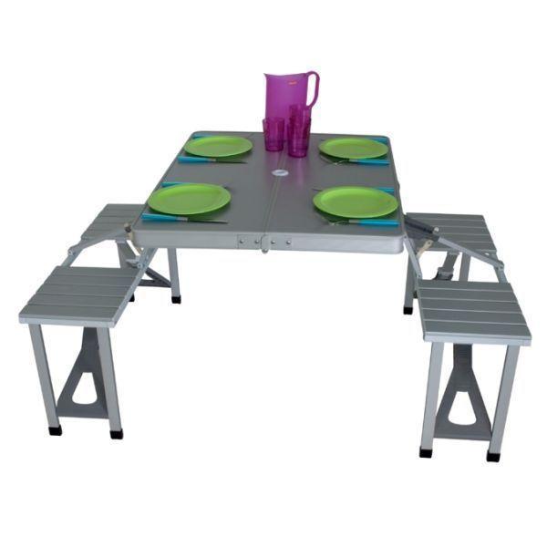 picknicktisch eurotrail limoux campingtisch bank. Black Bedroom Furniture Sets. Home Design Ideas
