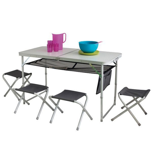 eurotrail dijon campingtisch mit st hlen. Black Bedroom Furniture Sets. Home Design Ideas