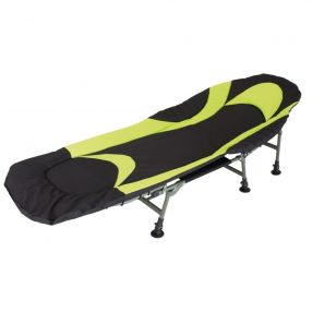Campingbett Eurotrail Foldable Relax Bed Queen, schwarz/lime