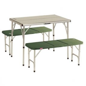 Campingtisch mit Bank Coleman Pack-Away Table For 4