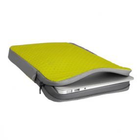 Laptoptasche Sea To Summit Travelling Light Laptop Sleeve, 11-Zoll, Lime/Grey