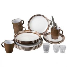 Grosses Campinggeschirr-Set Brunner All Inclusive Chocolate C9C
